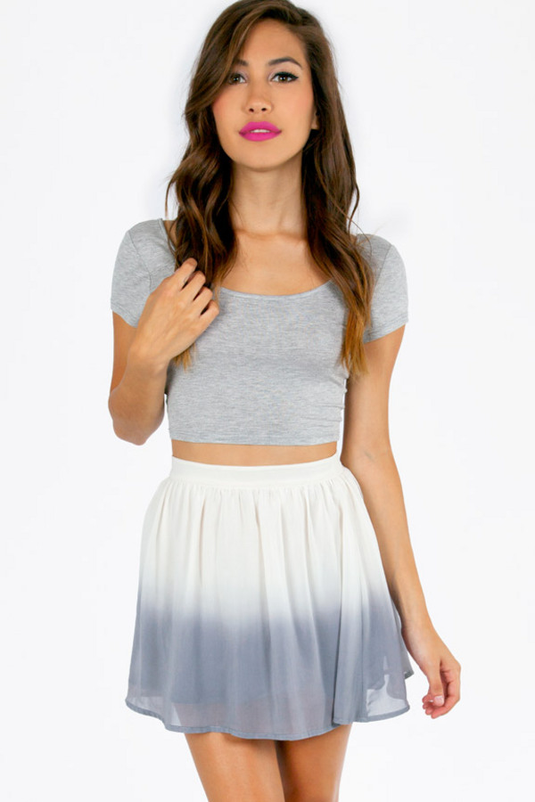 Say Ombre Skater Skirt - Tobi