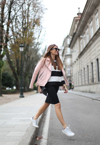 b a r t a b a c blogger sunglasses baby pink perfecto striped sweater