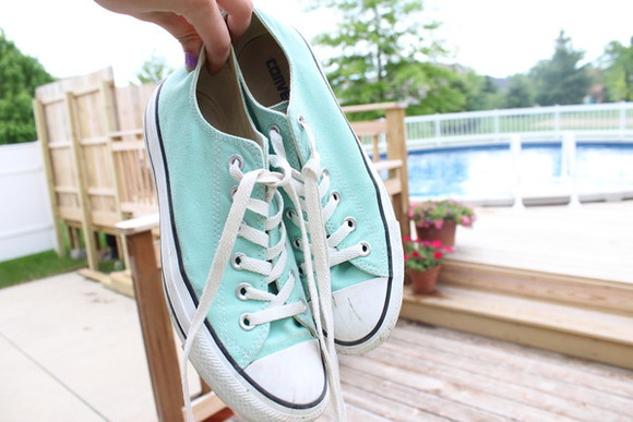 shoes converse all star turquoise