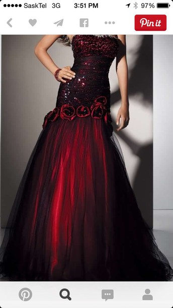 dress dress red black