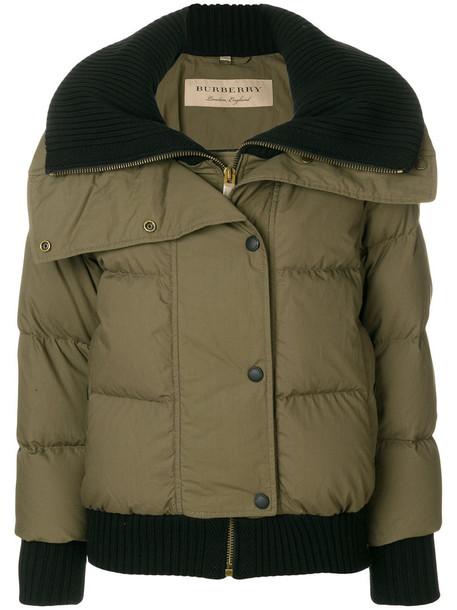 Burberry jacket puffer jacket women cotton wool green
