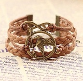 jewels,the hunger games,brown bracelet,braided bracelet
