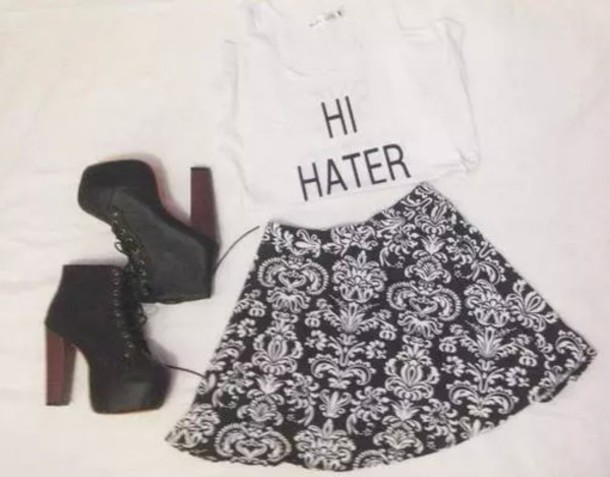 skirt shirt shoes
