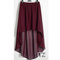 Women double layer chiffon pleated retro long asym dress elastic waist skirts girl maxi asymmetrical high low skirt 25 colors