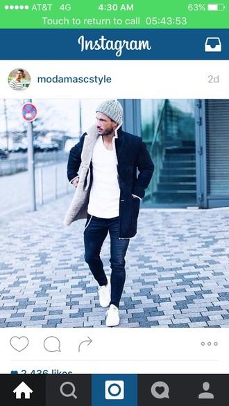 coat jacket mens jacket warm fleece menswear