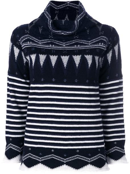 Cruciani jumper women blue knit sweater