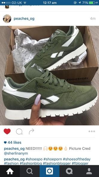 shoes reebok khaki trainers