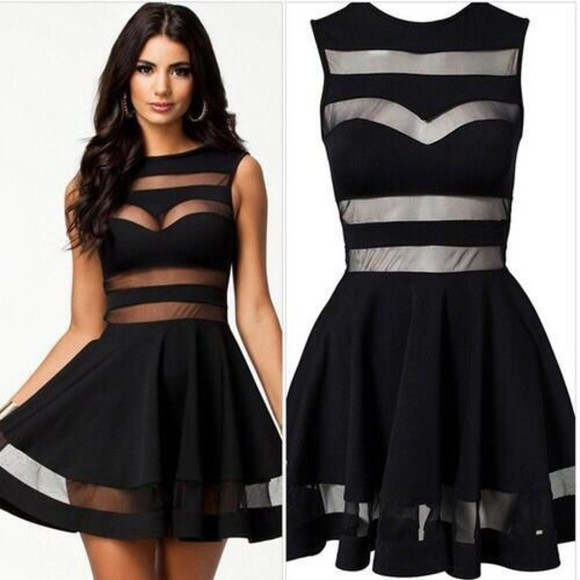 dress black cute adorable beautiful little black dress sleevless