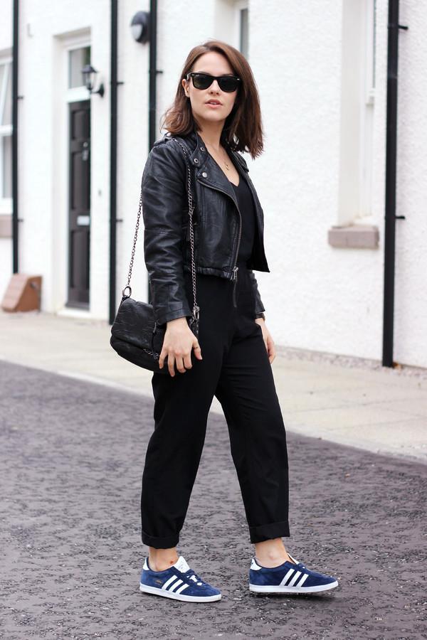 the little magpie jumpsuit bag jacket sunglasses jewels