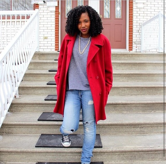 coat red red coat cute fashion dope