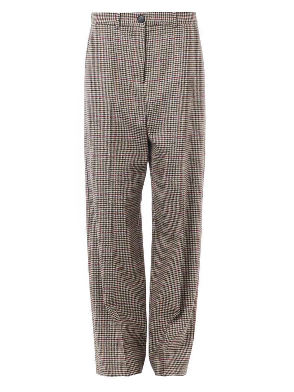 Hound's-tooth wool wide-leg trousers | Maison Martin Margiela ...