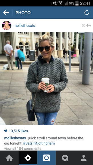 mollie king grey jumper