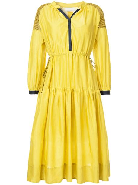 GINGER & SMART dress women cotton yellow orange