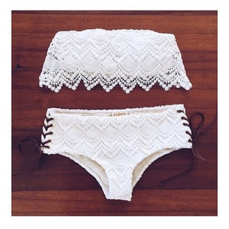 swimwear white lace crochet lace swimwear white swimwear