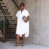dress,shirt dress,shoes,bag,sunglasses