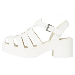 LIPSTIK Lillian Sandals White