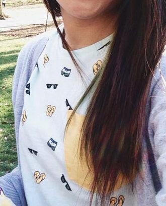 shirt pockets pattern yellow cute preppy