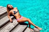 swimwear,hailey baldwin,summer,bikini,bikini top,bikini bottoms