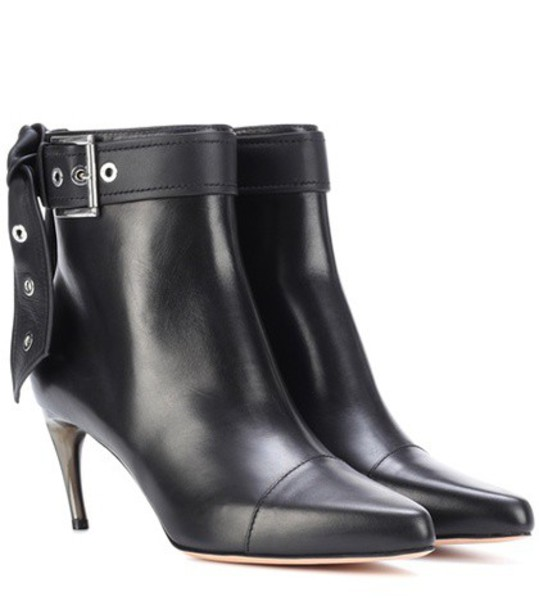 Alexander Mcqueen leather ankle boots ankle boots leather black shoes