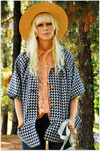 Fancytreehouse — houndstooth swing coat