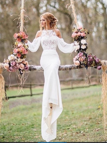 dress, elegant dress, whimsical dress, white dress, lace dress ...