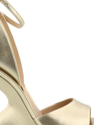 heel sandals gold shoes