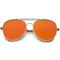Get dazed colored rimless sunglasses in neon orange at flyjane