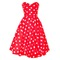 Red polka dot rockabilly swing dress