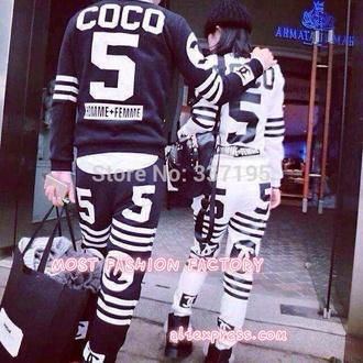blouse chanel matching couple set