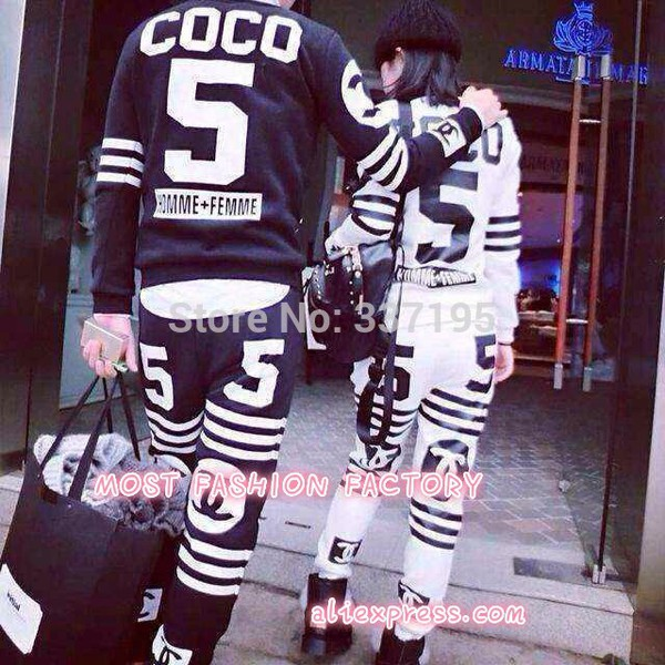 blouse chanel matching couple set