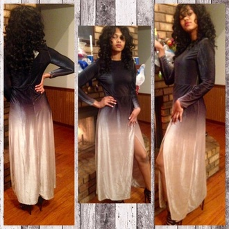 dress zaful ombre ombre dress prom maxi dress classy