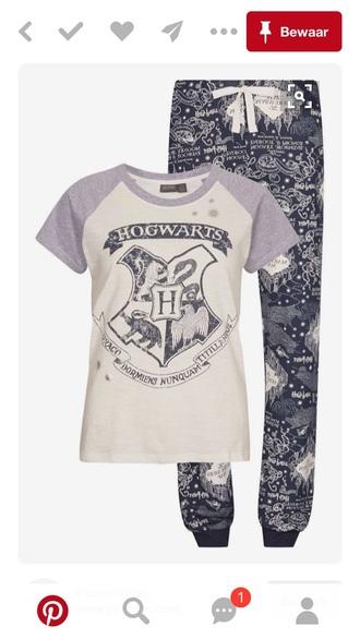 pajamas hogwarts harry potter pinterest outfit