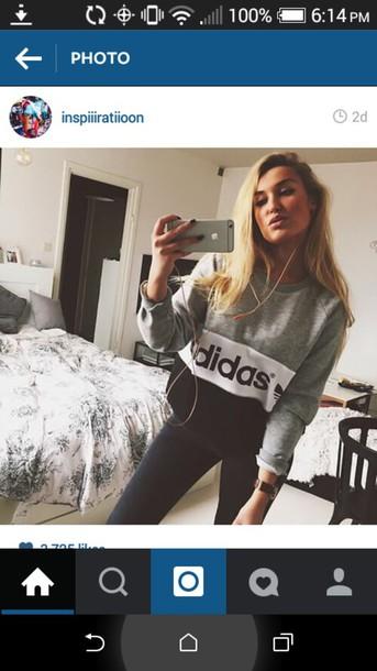 shirt adidas sweater
