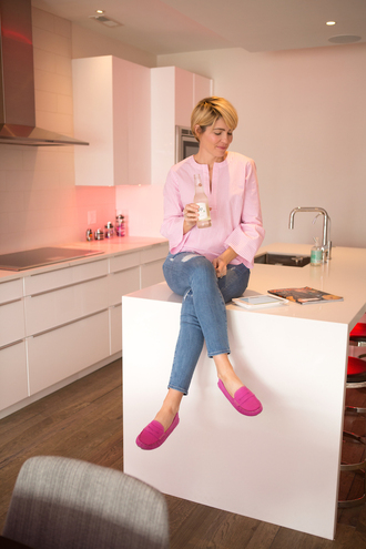 style archives - seersucker and saddles blogger top shoes jewels pink top loafers skinny jeans