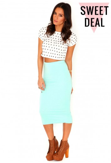 Value Double Layer Midi Skirt In Mint - Skirts - Missguided