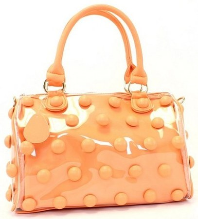 Inside Pouch Silhouette Satchel Bag (Peach)   - DivergentClosets