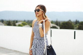 cuppajyo blogger jumpsuit sunglasses shoes bag jewels