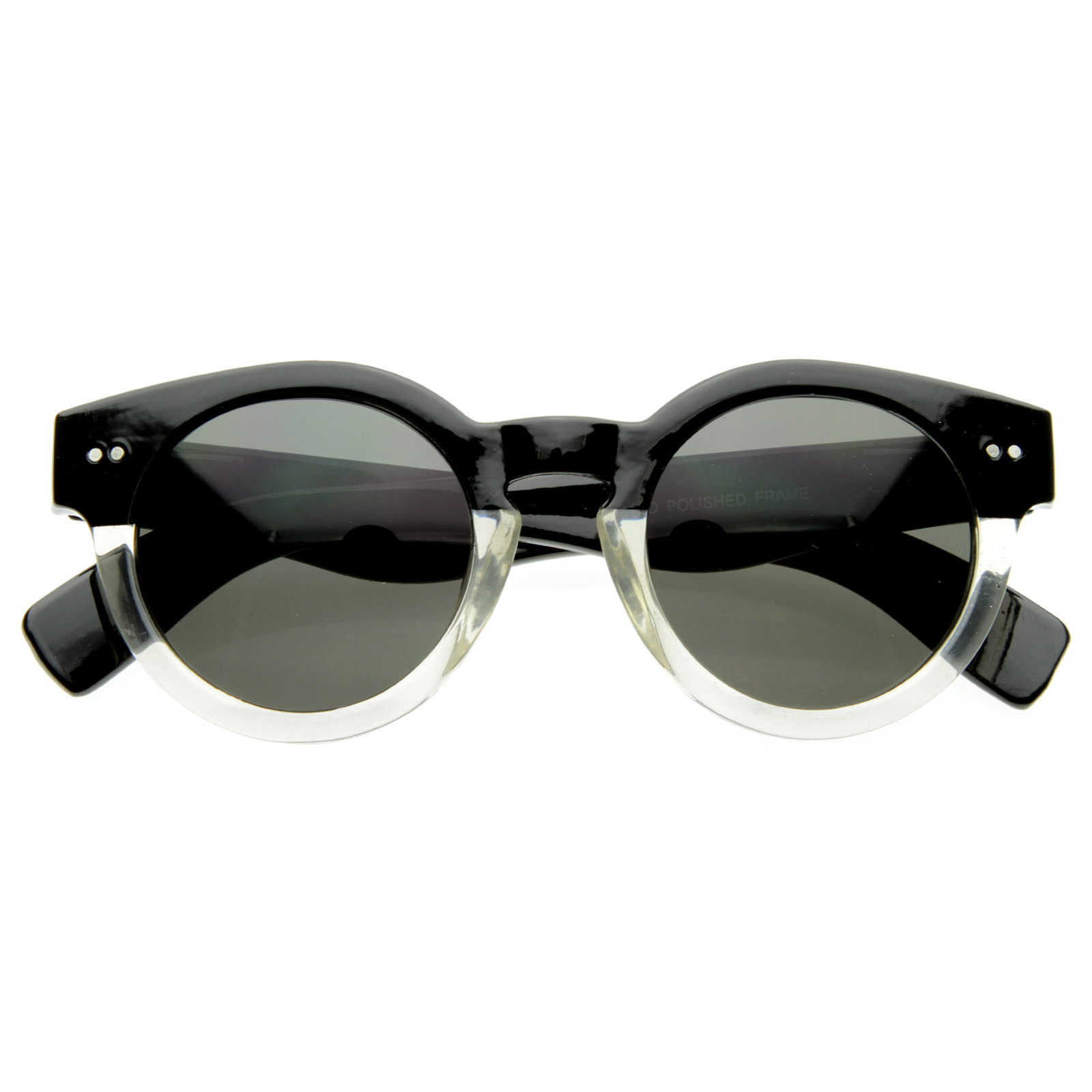 Vintage Fashion Inspired Bold Circle Round Sunglasses