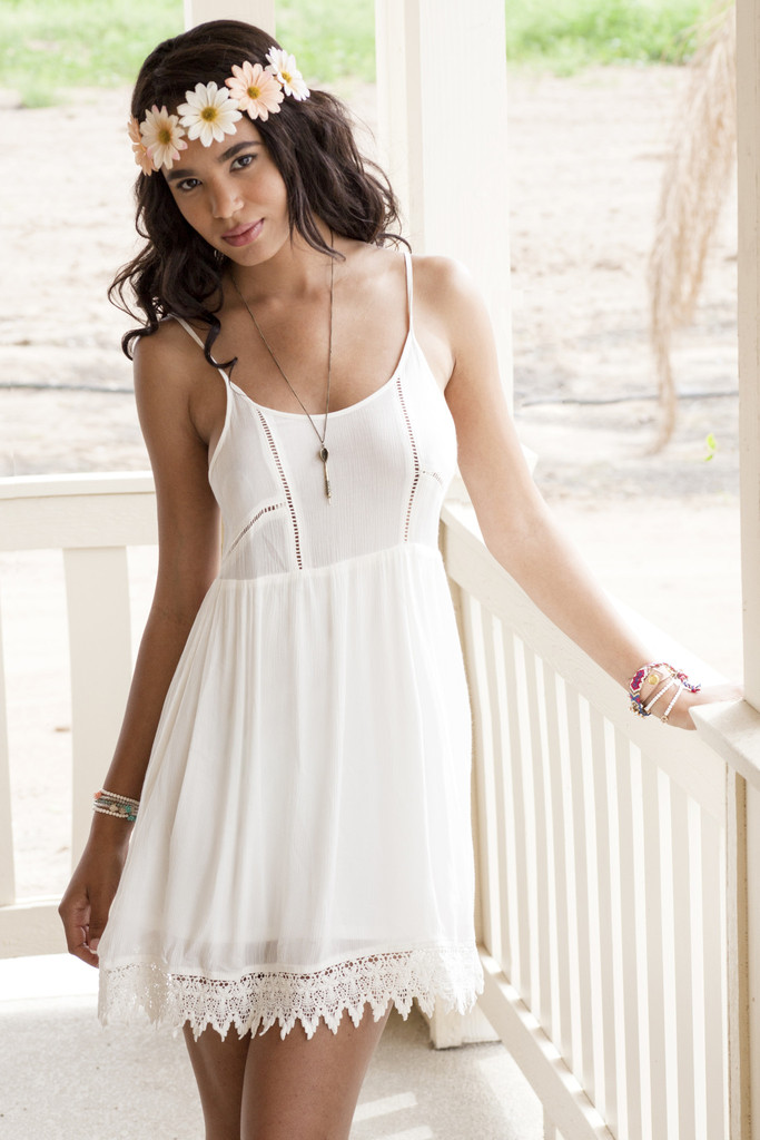 Babydoll Dress with Lace Trim | Obsezz