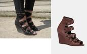 shoes,sandals,surface to air,black heels,brown heels