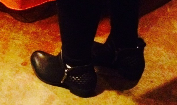 shoes black ankle boots quilted