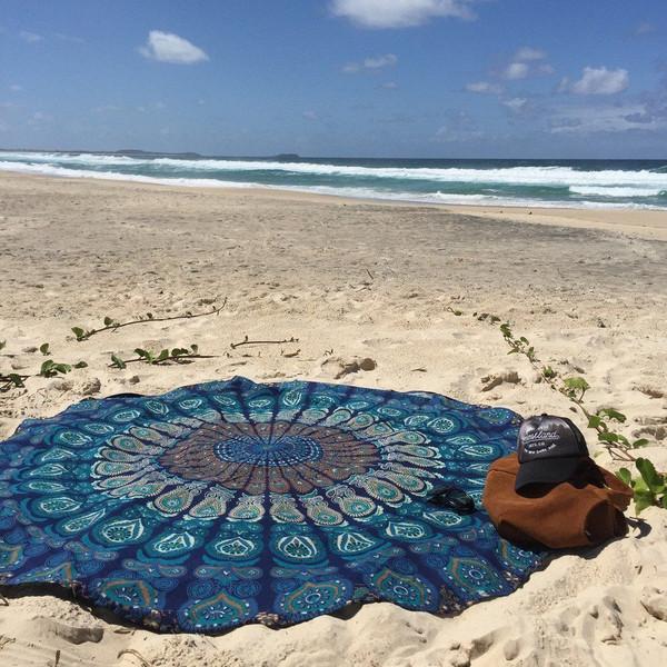 home accessory mandala roundie tassel mandala tapestry