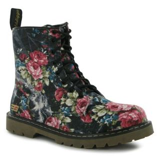 Golddigga Patent Boots Ladies - Black Flower | eBay