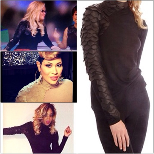 blouse scale sleeve toya wright jenny mccarthy nya lee keke wyatt turtleneck toya carter leather sleeve sweater