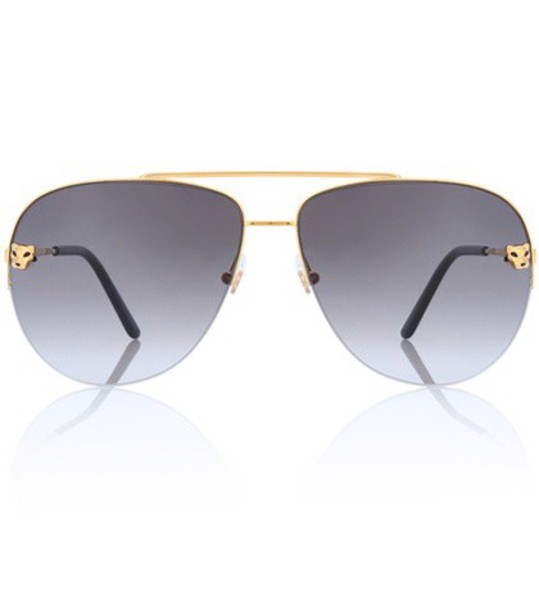 Cartier Sunglasses Panthère de Cartier aviator sunglasses in gold