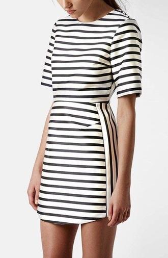 dress beyonce dress black and white dress striped dress