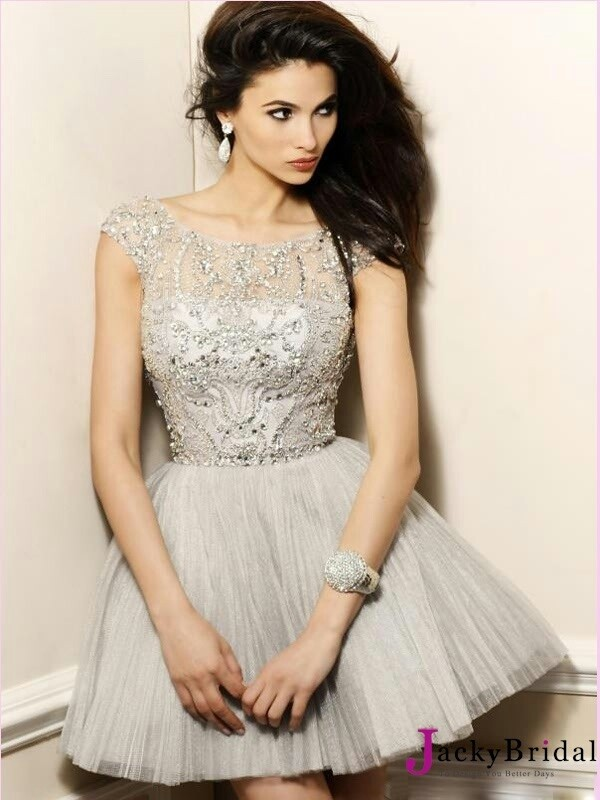 2013 Sherri Hill 2814 Short Silver Homecoming Dress - $164.00 ...