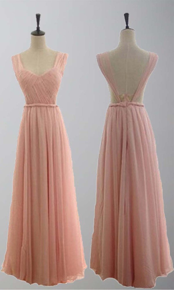 long prom dress sexy dress open back prom dress braid belt dress long formal dress pink prom dress backless prom dress