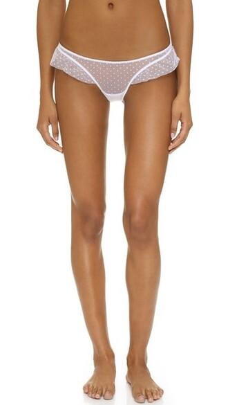 thong ruffle white underwear