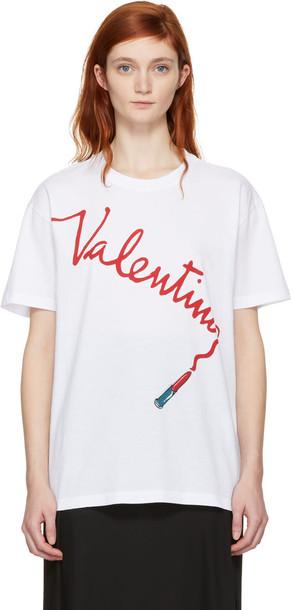 Valentino t-shirt shirt t-shirt white top
